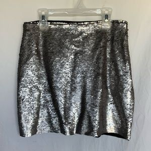 MNG Casual   sequin mini skirt